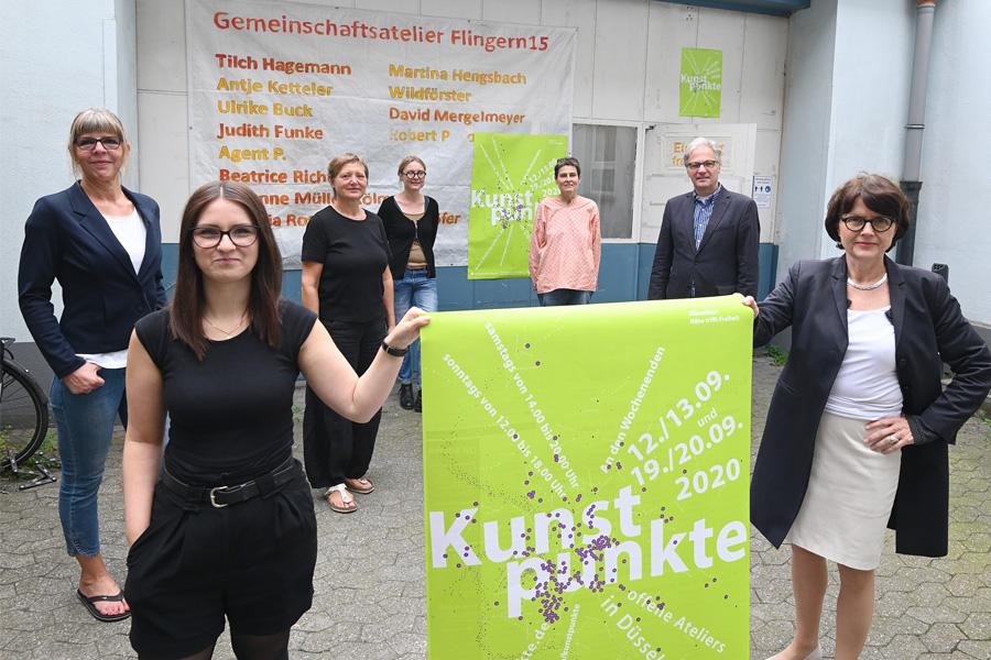 Am Wochenende starten die Düsseldorfer Kunstpunkte 2020 (Foto: Stadt Düsseldorf/Wilfried Meyer)
