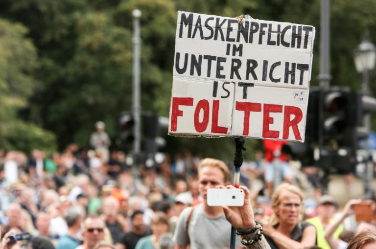 Größere Corona-Demonstrationen in München und Hannover erwartet (© 2020 AFP)