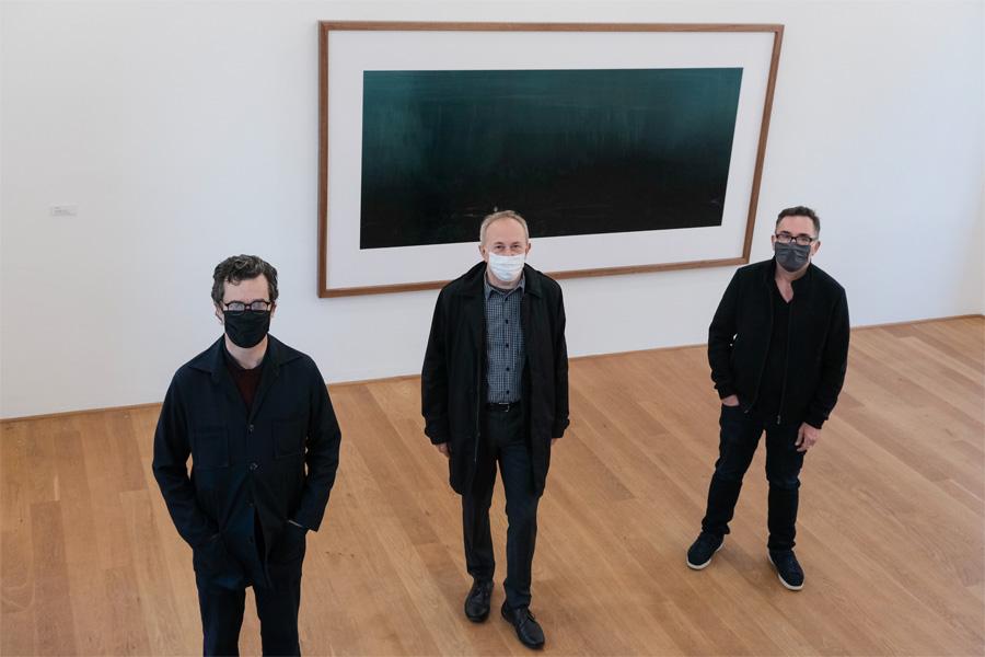 Laurenz Berges, Bernard Langerock und Josef Schulz (Foto: Stadt Düsseldorf/Michael Gstettenbauer)