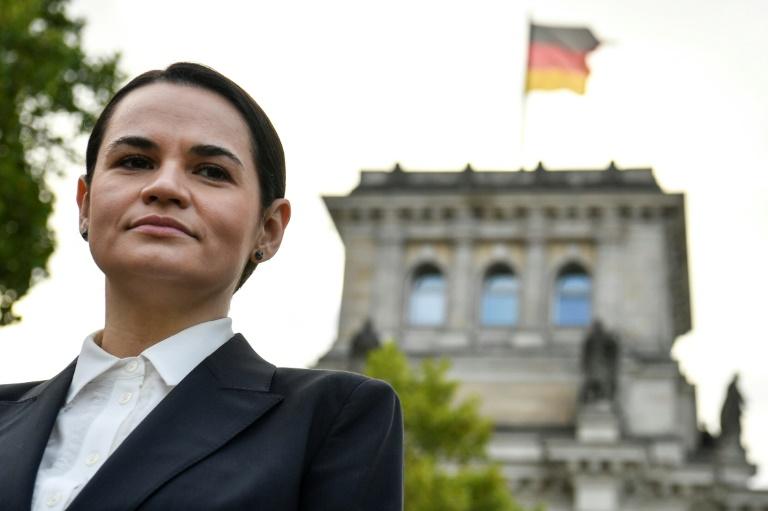 Tichanowskaja bittet bei Treffen mit Merkel um Unterstützung (© 2020 AFP)