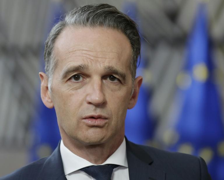 Maas stellt sich im Bundestag den Fragen der Abgeordneten (© 2020 AFP)