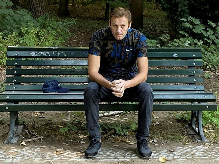 """Nawalny nennt Altkanzler Schröder einen """"Laufburschen Putins"""" (© 2020 AFP)"""