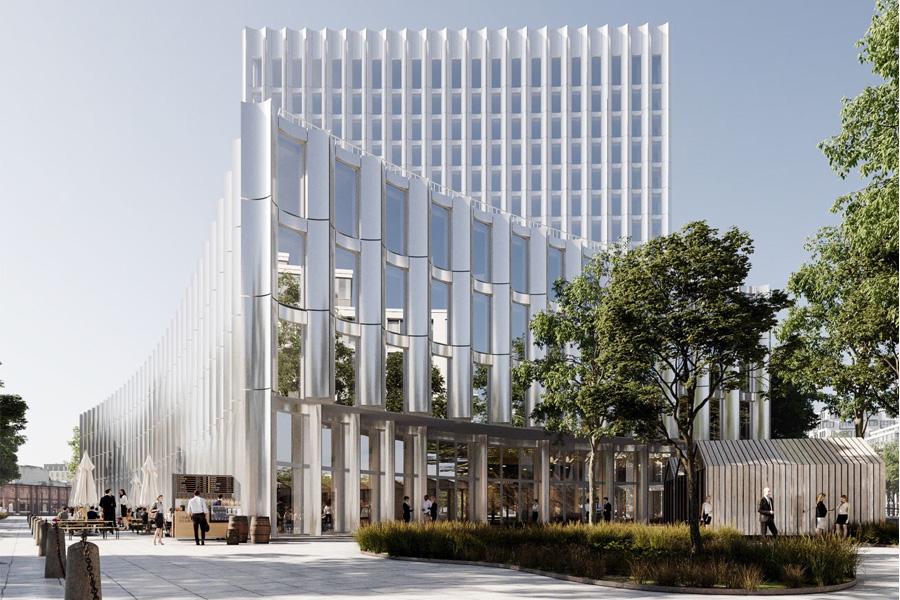 Der Siegerentwurf des Architekturbüros Cobe (Kopenhagen) (Foto: Zech Group/Cobe)