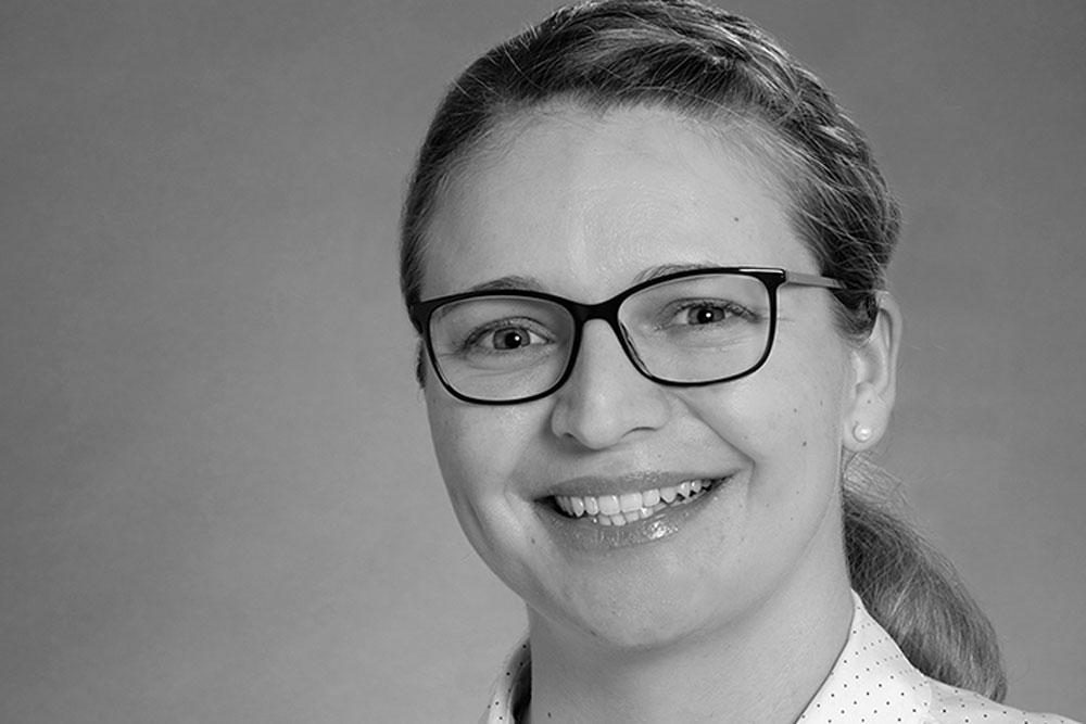 Preisträgerin Kristina von der Bank. Die Preisverleihung fand in diesem Jahr digital über Zoom statt. (Foto: Hochschule Niederrhein)