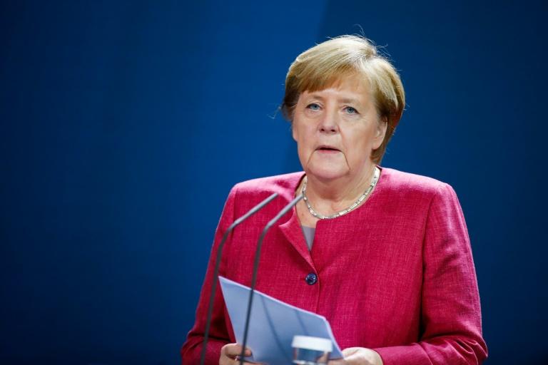 Merkel und Bürgermeister vereinbaren weitere Beschränkungen für Corona-Hotspots (© 2020 AFP)