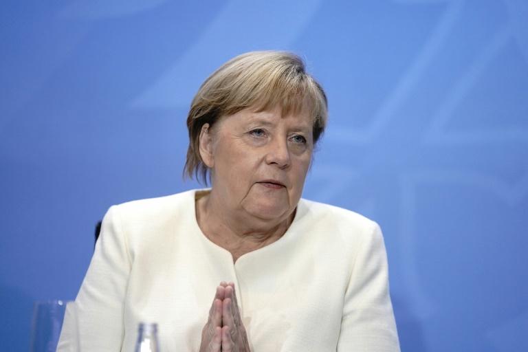 Merkel dringt auf weitere Anstrengungen der Weltgemeinschaft im Kampf gegen Hunger (© 2020 AFP)