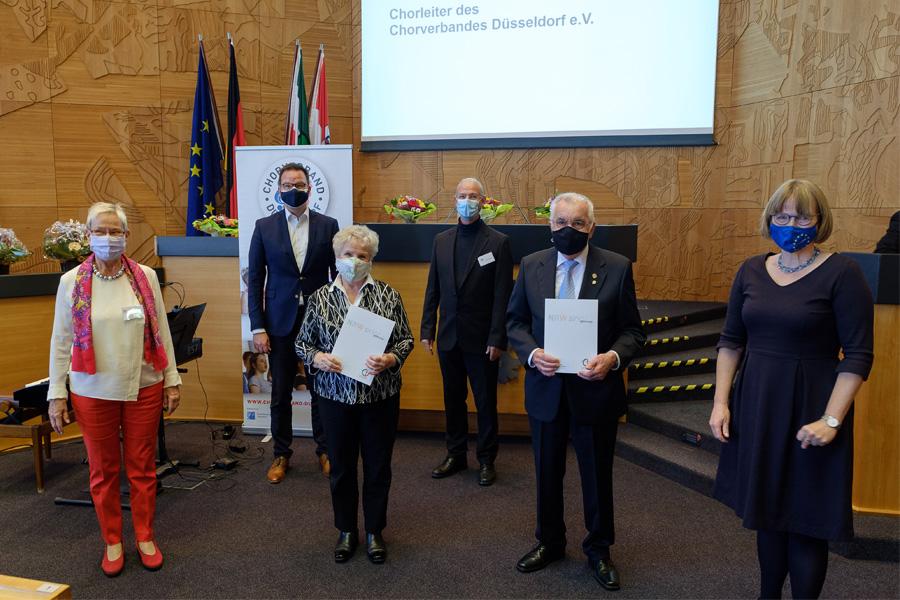 Ehrungsveranstaltung im Rathaus: Chorverband Düsseldorf ehrt langjährige Mitglieder (Foto: Stadt Düsseldorf/Uwe Schaffmeister)