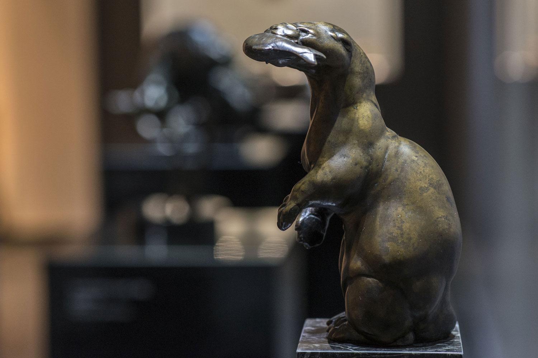Plastik von August Gaul im Museum Großauheim (Foto: Detlef Sundermann, Städtische Museen Hanau)