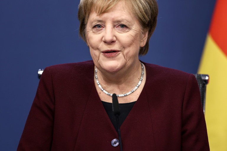 """Merkel-Appell: """"Bitte bleiben Sie wenn immer möglich zu Hause"""" (© 2020 AFP)"""