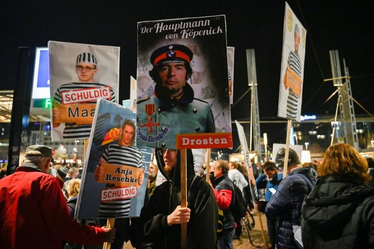 Städte verhängen Auflagen gegen Querdenken-Demonstrationen am Wochenende (© 2020 AFP)