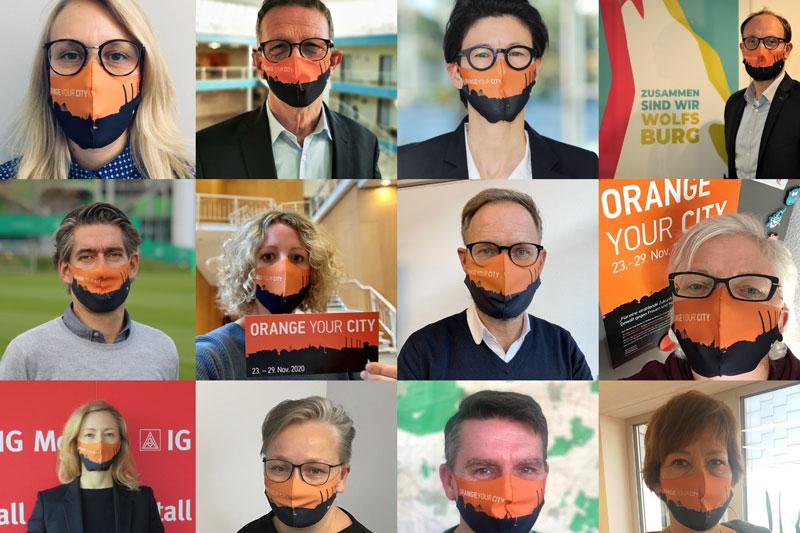 Prominente Mitwirkende positionieren sich gegen Gewalt. (Foto: Stadt Wolfsburg)