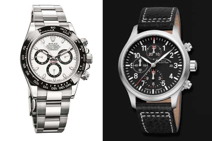 Beispielbilder der gestohlenen Uhren (Foto: Polizei Düsseldorf)