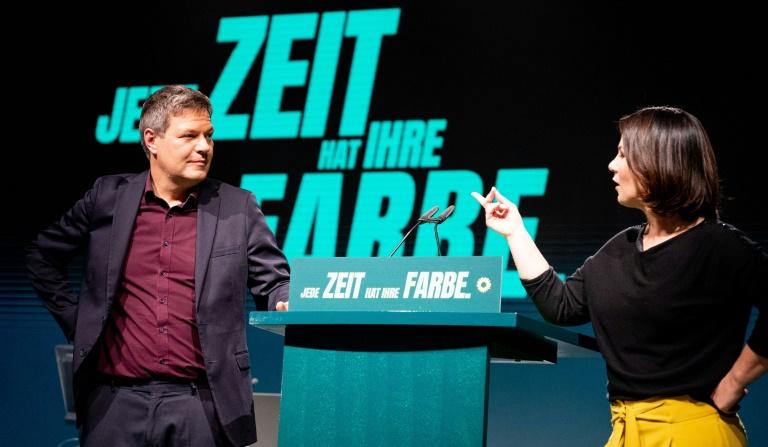 """Habeck: Die anderen Parteien sind """"ermüdet und ausgelaugt"""" (© 2021 AFP)"""