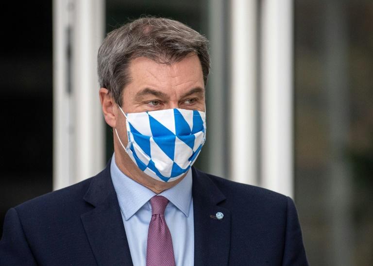 Söder: Vorschlag für Kanzlerkandidatur machen die beiden Parteivorsitzenden (© 2021 AFP)