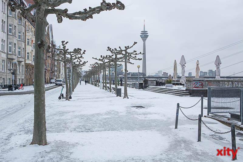 """Tief """"Tristan"""" sorgt für Wintereinbruch in Düsseldorf (Foto: xity)"""