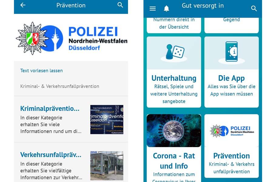 """Polizei Düsseldorf informiert ältere Menschen über die App """"Gut versorgt in Düsseldorf"""" (Foto: Polizei Düsseldorf)"""