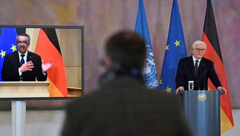 Steinmeier mahnt gemeinsam mit WHO zu weltweiter Solidarität bei Impfstoffen (© 2021 AFP)