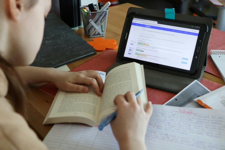 Bundesregierung will digitale Bildung in Deutschland stärker in den Fokus rücken (© 2021 AFP)