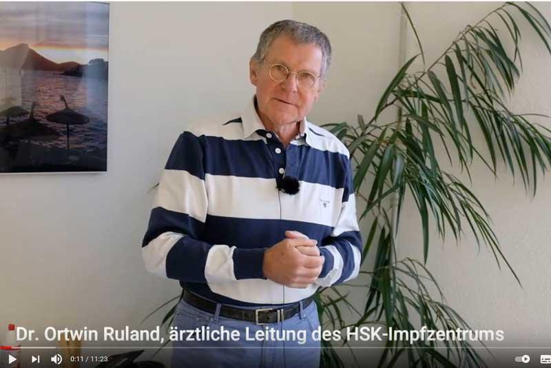 In fünf Videos beantwortet Dr. Ortwin Ruland Fragen zur Corona-Schutzimpfung. (Foto: HSK)