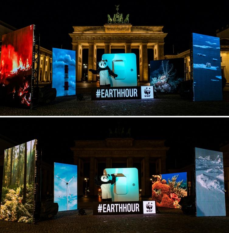 "WWF vermeldet Rekordbeteiligung bei ""Earth Hour"" in Deutschland (© 2021 AFP)"