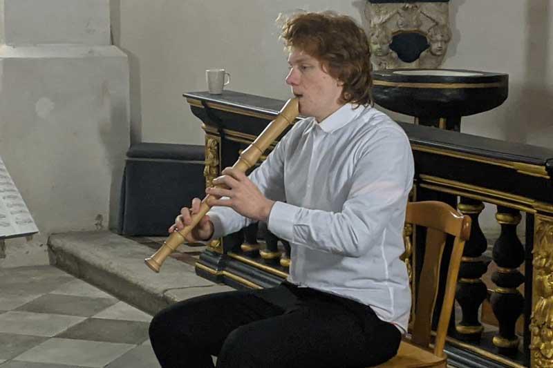 Milan Thüer in der Kategorie Blasinstrumente Blockflöte Solo bekam einen der ersten Preise. (Foto: Privat)