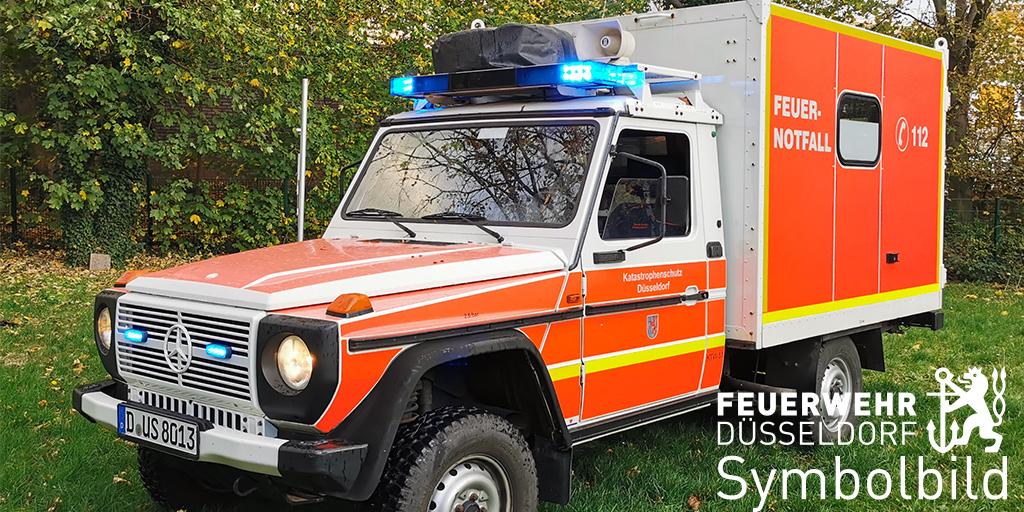 Ein Symbolbild des geländegängigen Krankenwagens der Feuerwehr Düsseldorf, des sogenannten San-Wolf (Foto: Feuerwehr Düsseldorf)