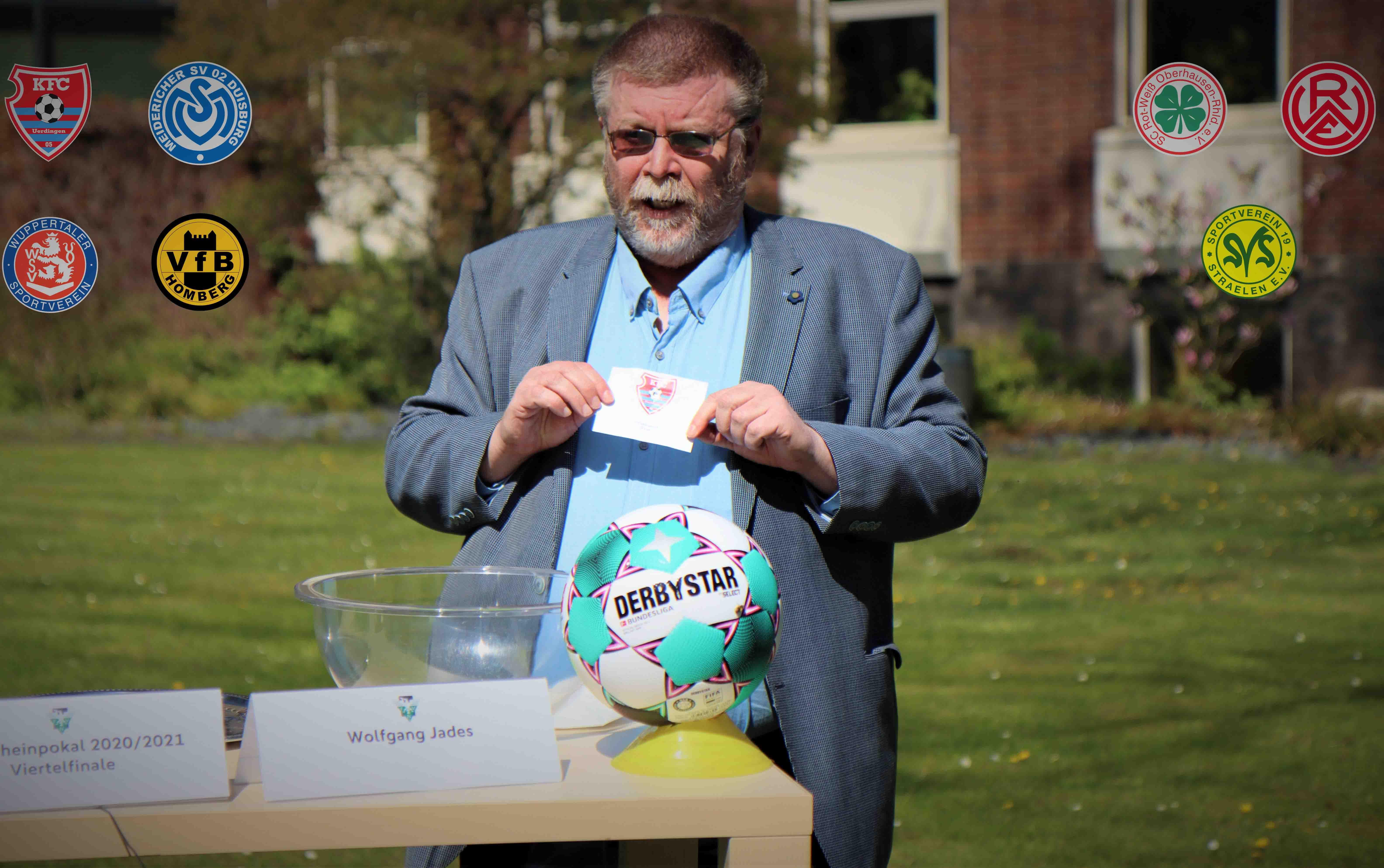 Niederrheinpokal-Auslosung im Außenbereich der Sportschule Wedau (Foto: Fußballverband Niederrhein e.V.)
