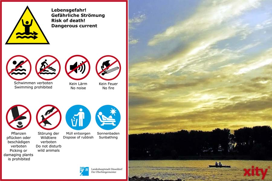 Düsseldorf stellt zusätzliche Schilder mit Verhaltensregeln am Angermunder Baggersee auf (Foto: Stadt Düsseldorf, xity)