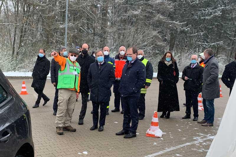 Ministerpräsident Laschet besucht die Impfstation. (Foto:Ennepe-Ruhr-Kreis)