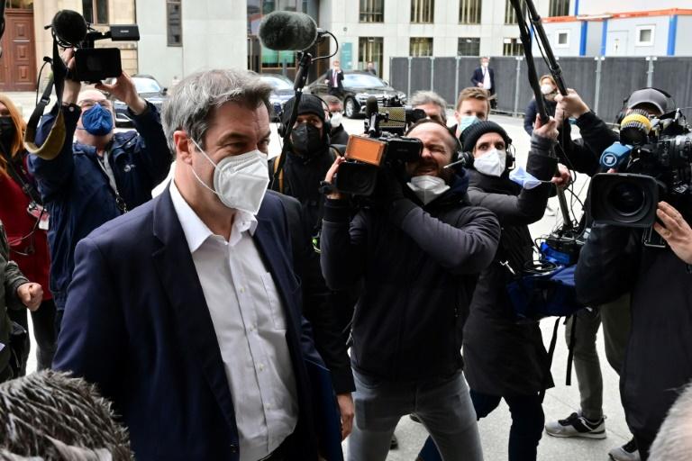 Laschet und Söder nutzen Auftritt vor Fraktion zu Eigenlob - und Sticheleien (© 2021 AFP)