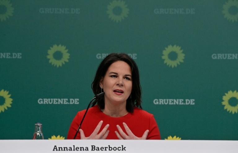 Baerbock ist Spitzenkandidatin der Grünen in Brandenburg (© 2021 AFP)