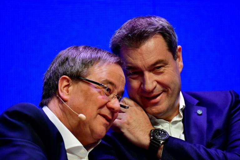 Laschet und Söder bringen sich für Entscheidung in Stellung (© 2021 AFP)
