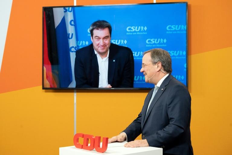 Weder Söder und Laschet wollen Anspruch auf Kanzlerkandidatur aufgeben (© 2021 AFP)