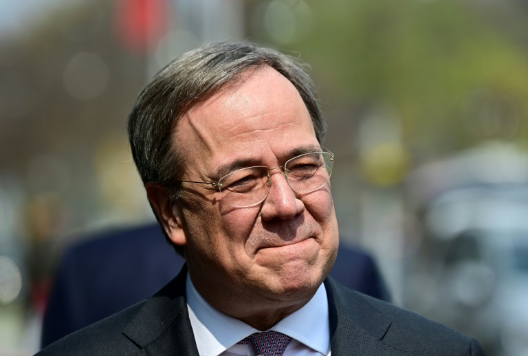 Laschet hält vor CDU-Vorstand an Anspruch auf Kanzlerkandidatur fest (© 2021 AFP)