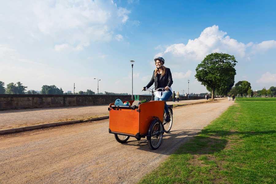 Lastenräder sind beliebt. Ihre Anschaffung wird nun auch durch die Stadt gefördert (Foto: Stadt Düsseldorf, Umweltamt)
