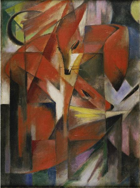 "Franz Marc, 1880-1916, ""Füchse"", 1913, 88 x 66 cm, Öl auf Leinwand (Foto: Kunstpalast - ARTOTHEK)"