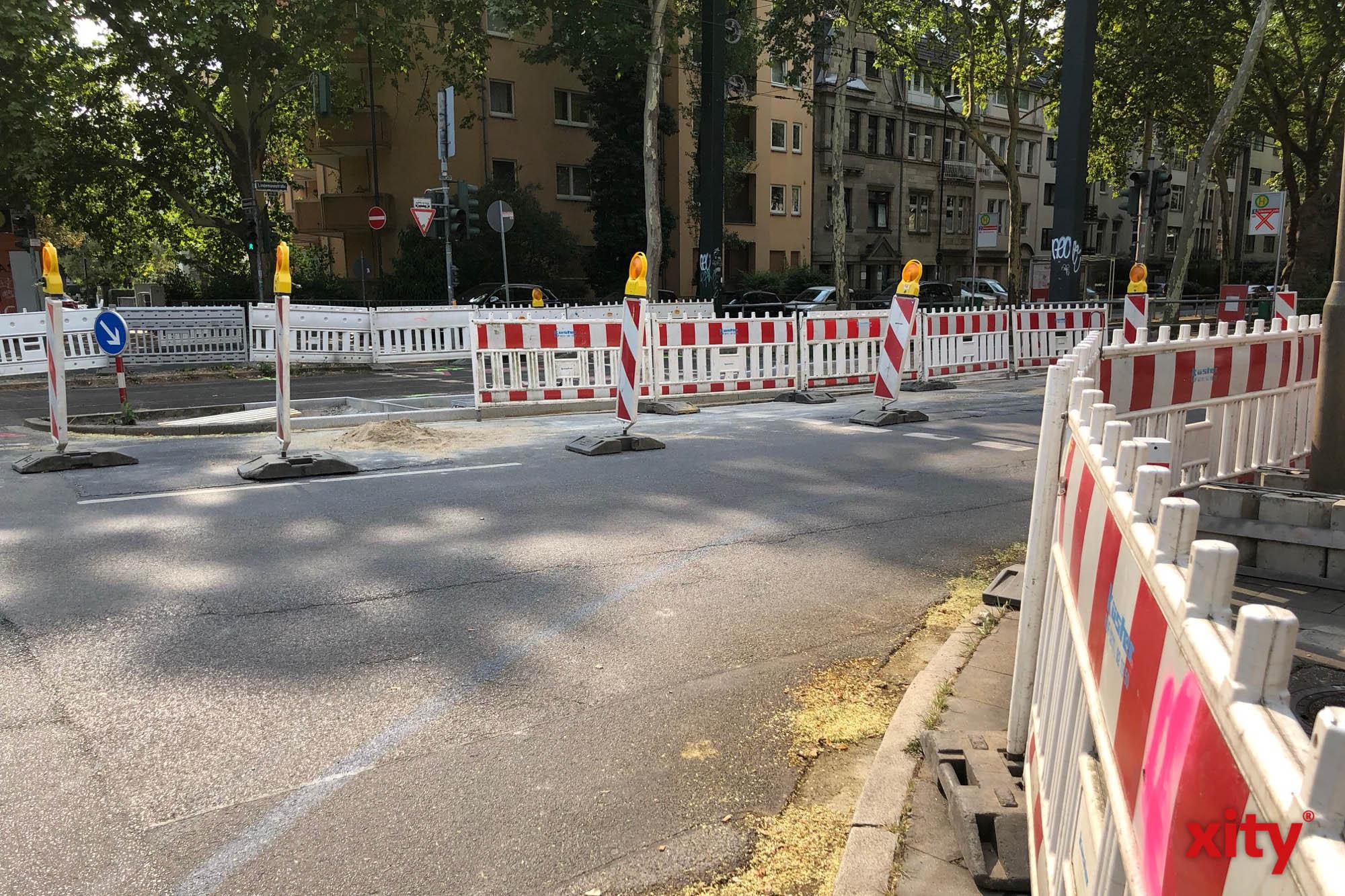 Düsseldorf: Bauarbeiten auf Südring und Völklinger Straße (Foto: xity)