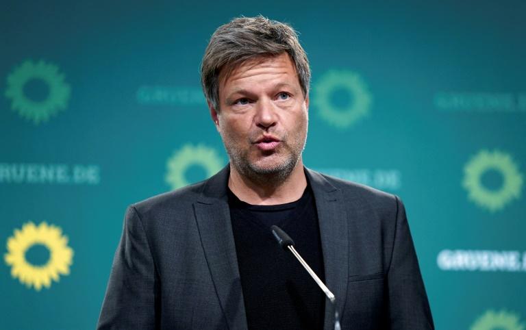 """Habeck: """"Wir schützen das Klima um der Freiheit willen"""" (© 2021 AFP)"""