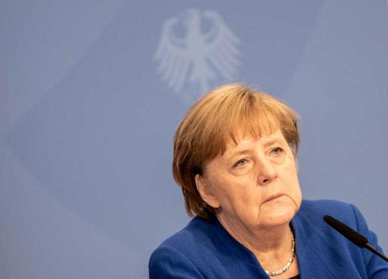 Merkel erinnert am Jahrestag des Kriegsendes an Opfer der NS-Gewaltherrschaft (© 2021 AFP)