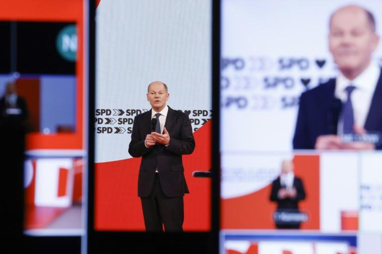 SPD-Parteitag bestätigt Scholz als Kanzlerkandidat (© 2021 AFP)