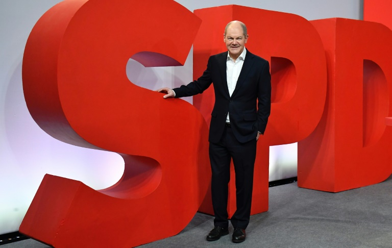 SPD-Spitzenpolitiker bewerten Parteitag positiv (© 2021 AFP)