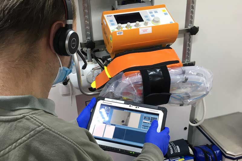 Moderne Übertragungsgeräte ermöglichen eine notfallmedizinische Ersteinschätzung auf Distanz. (Foto: Stadt Münster)