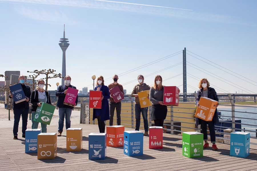 Das Kernteam des Bündnisses für Nachhaltigkeit (Foto: Stadt Düsseldorf, Umweltamt)