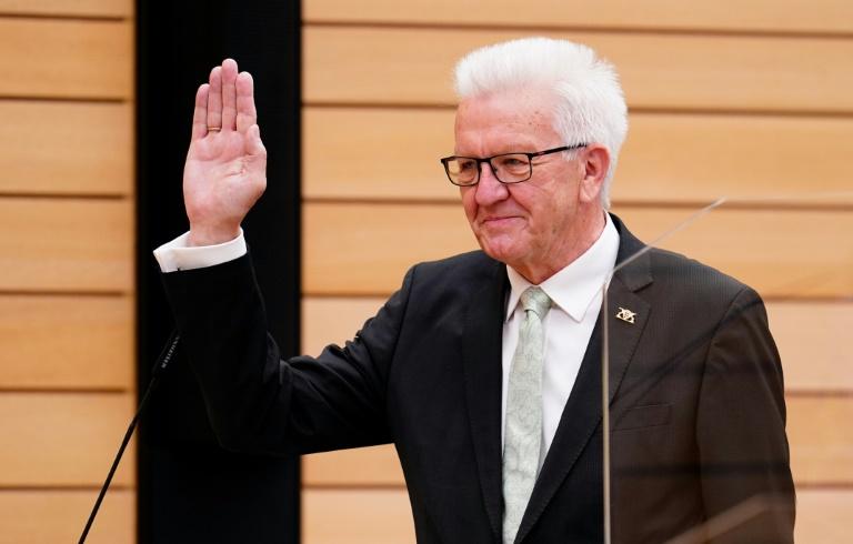 Baden-Württembergs Ministerpräsident Kretschmann für dritte Amtszeit gewählt (© 2021 AFP)