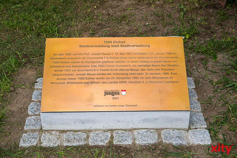 Gedenktafel zum 100. Geburtstag von Joseph Beuys. (Foto: xity)