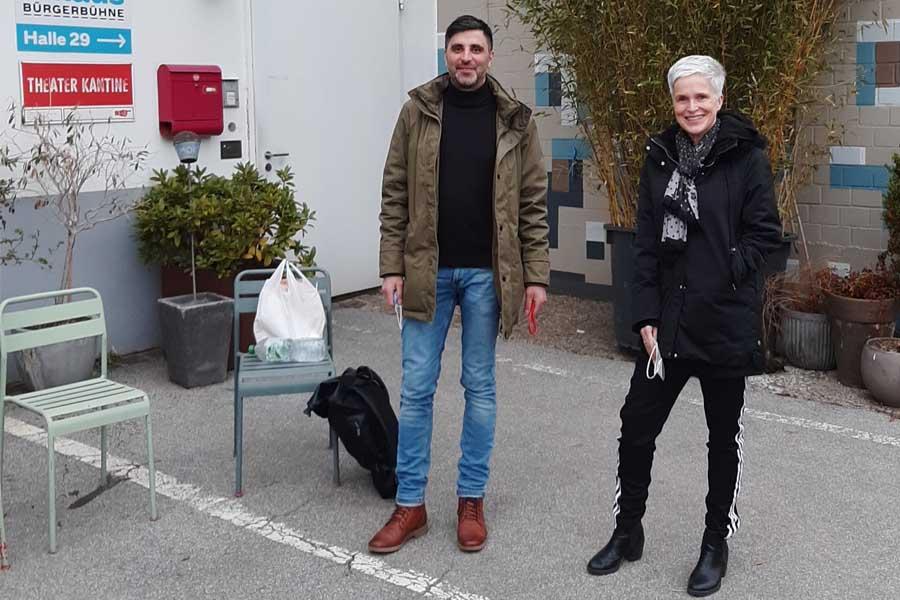 Birgit Lengers und Bassam Ghazi übernehmen mit der Spielzeit 2021/22 gemeinsam die Leitung des Stadt:Kollektiv (Foto: Lasse Scheiba)