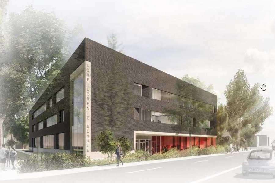 Animation des Ersatzneubaus für die Lore-Lorentz-Schule in Eller (Foto: Stadt Düssledorf)