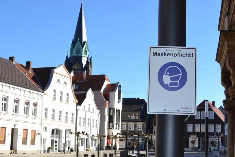 Maskenpflicht um eine Woche verlängert. (Foto: Stadt Ahlen)
