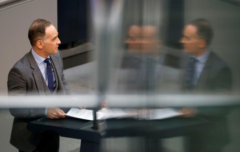 """Maas verurteilt im Bundestag den """"Raketenterror"""" der Hamas (© 2021 AFP)"""