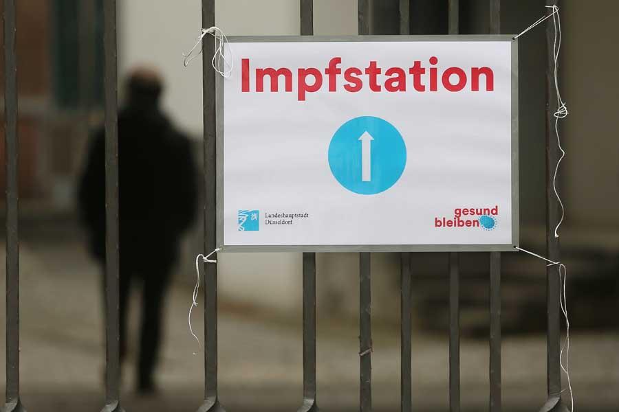 Impfaktion für Wohnungs- und Obdachlose in der Bergerkirche in der Altstadt (Foto: Stadt Düsseldorf/David Young)